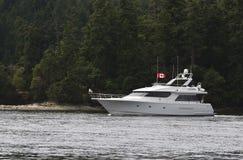Luxuxmotorboot Stockbild