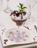 Luxuxschokoladen-Wüste Stockfoto