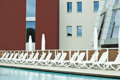 Luxuxschwimmbad Stockfoto