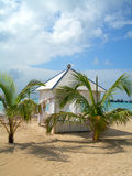 Luxuxstrandhütte-Maisinsel Nicaragua Stockfotos
