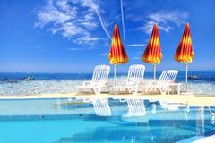 Luxuxswimmingpool Stockfoto
