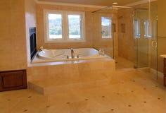 Luxuxvorlagenbad Stockfoto