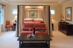 Luxuxvorlagenschlafzimmer Stockfotografie