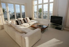 Luxuxwohnzimmer-Innenraum Stockbild