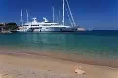 Luxuxyachten, Rhodos-Insel Stockfoto