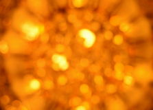 Luz ámbar abstracta de la falta de definición Foto de archivo libre de regalías