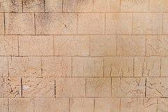 Luz áspera velha - castelo antigo da pedra da parede da estrutura amarela Fotos de Stock Royalty Free