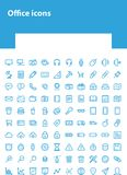 Luz - ícones azuis do escritório para Web site ilustração royalty free