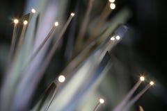 Luz ótica das fibras Fotografia de Stock