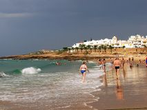 luz пляжа Стоковое фото RF