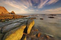 luz Португалия пляжа algarve Стоковое Изображение