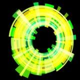 Luz abstrata - círculo amarelo em um ângulo quadriculação Fotografia de Stock Royalty Free