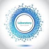 Luz abstrata - círculo azul do laboratório médico Fotografia de Stock