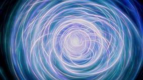 Luz abstrata - círculos azuis da energia Ilustração Stock