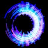 Luz abstrata - círculos azuis em um ângulo quadriculação Imagem de Stock