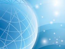 Luz abstrata - fundo azul com globo Imagem de Stock Royalty Free
