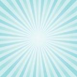 Luz abstrata - a turquesa azul irradia o fundo Vetor Imagens de Stock