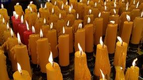 A luz-acima das velas Foto de Stock