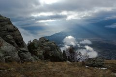 Luz acima do vale dos fantasmas. Imagens de Stock Royalty Free