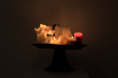 Luz ainda Lilfe da vela Fotos de Stock Royalty Free