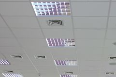 Luz ajustada no telhado Foto de Stock Royalty Free