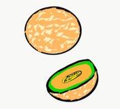 Luz alaranjada do fruto - sumário branco alaranjado da cor de Art Vetora Illustration Photo Object do ingrediente de alimento da  ilustração stock