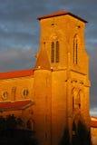 Luz alaranjada no steeple foto de stock royalty free