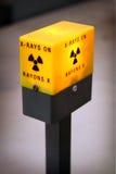 Luz alerta da radiação imagem de stock