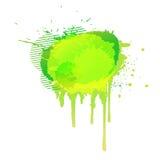 Luz amarela do fundo abstrato colorido da aquarela verde Vetor ilustração stock