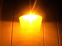 Luz amarela exterior Foto de Stock