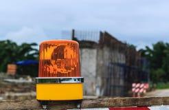 Luz amarilla de la sirena Foto de archivo