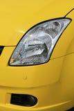 Luz amarilla del coche Foto de archivo