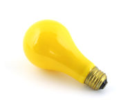 Luz amarilla del fallo de funcionamiento Imagenes de archivo