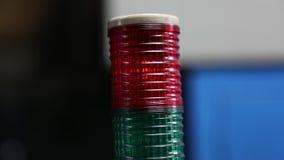 Luz amonestadora roja de la alarma de la lámpara metrajes