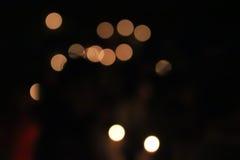 Luz anaranjada, círculo y amarillo claro Fotografía de archivo