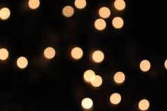 Luz anaranjada, círculo y amarillo claro Foto de archivo