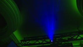 Luz azul almacen de video