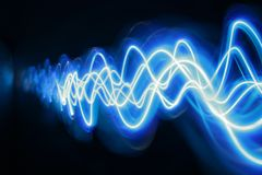 Luz azul Imagens de Stock