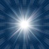 Luz azul abstrata Fotografia de Stock Royalty Free