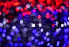 Luz azul del bokeh del rojo azul Foto de archivo libre de regalías