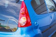 Luz azul del coche del jazz de Honda Imágenes de archivo libres de regalías