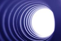Luz azul del túnel Imagen de archivo libre de regalías
