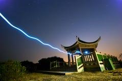 Luz azul engraçada a um pavilhão Imagem de Stock Royalty Free
