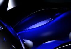 Luz azul na escuridão ilustração royalty free