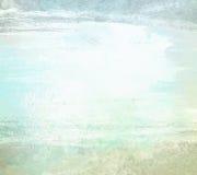 Luz - backgrond azul da aquarela do grunge da pintura fotografia de stock royalty free