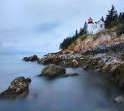 Luz baixa da cabeça do porto, Acadia, Maine imagens de stock