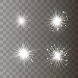 Luz blanca con polvo foto de archivo libre de regalías