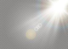 Luz blanca de la luz del sol ilustración del vector