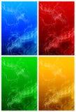 Luz blanca del plasma en cuatro colores Foto de archivo libre de regalías
