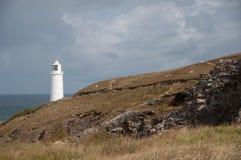 Luz blanca en la costa del norte de Cornualles fotografía de archivo